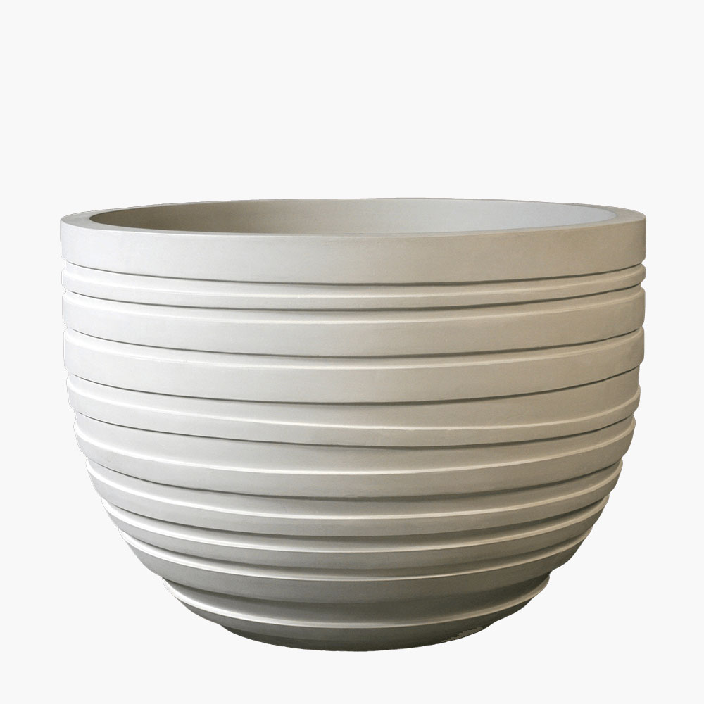 Acqua cement low bowl planters
