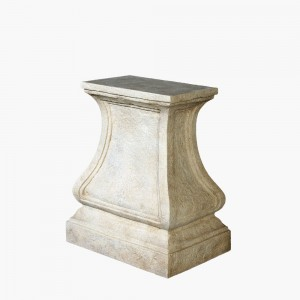 Harp Detailed Cast Stone Table Base