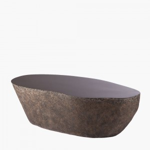 Boulder cocktail table in durable GFRC provides a beautifully simple, modern table that is sure to fit into any design.