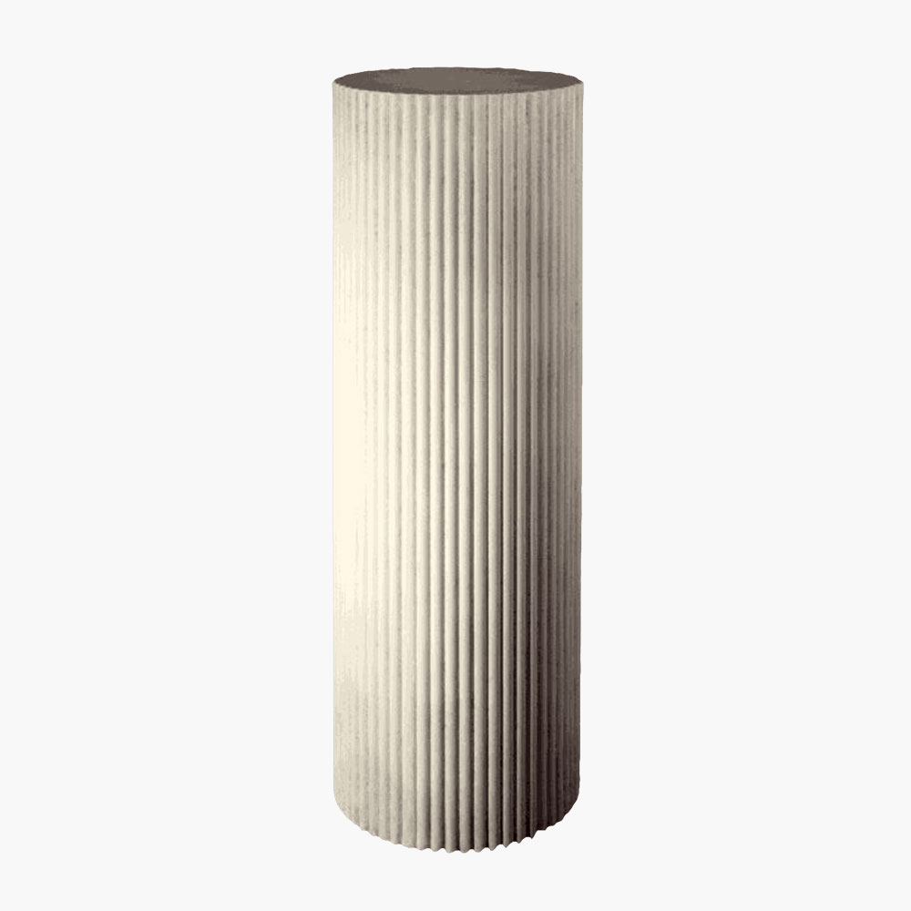 Fluted Column Pedestal adds elegance and charm to you traditional space. Top with an urn for a beautiful classic grecian display.