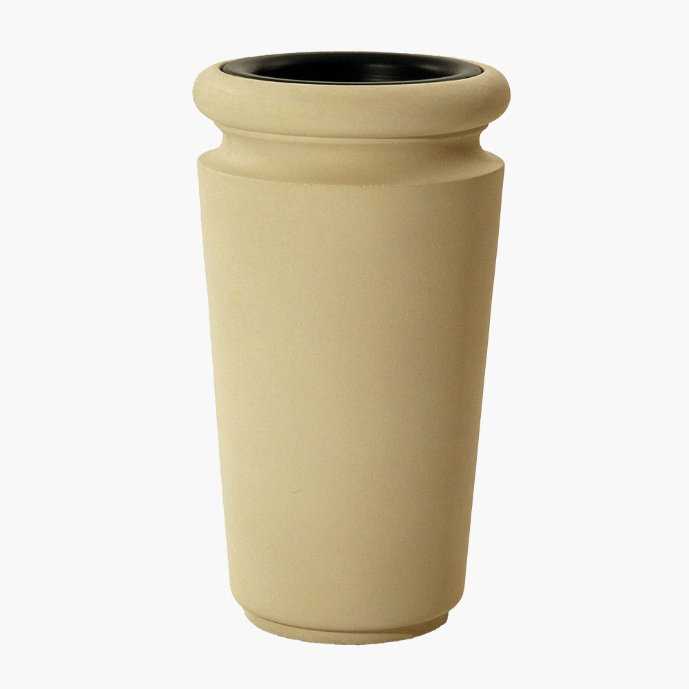 Commercial ash urn and trash can provides a beautiful, and durable, receptacle that continues your design.