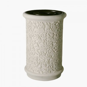 Granada Concrete Trash Receptable and Ash Urn for Decorative waste management.