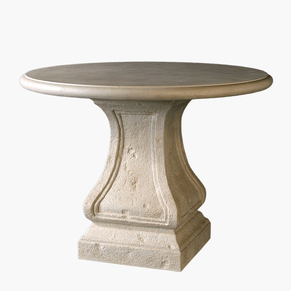 Harp Roman Table Base made from durable cast stone