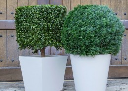 Manhattan Tapered Round and Square Planter