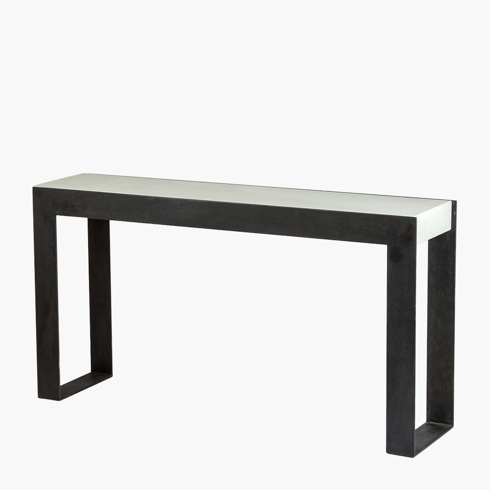 Dalle Concrete Parsons Console Table