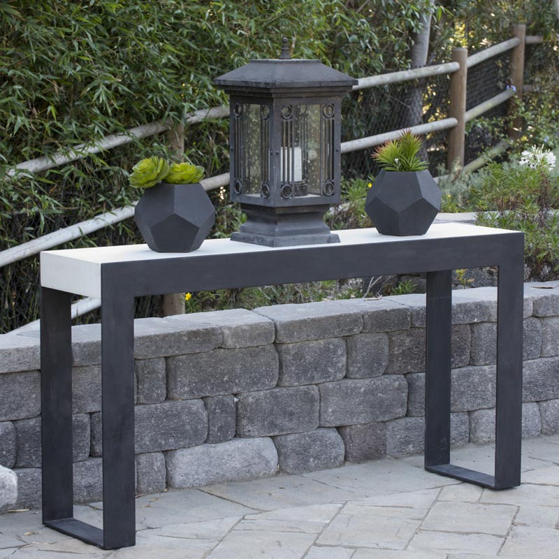 Outdoor Concrete Hall Table. High Quality Panters, Tables, Pedestals And  Other Furnishings In Cast Stone