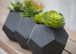 Dodeca Concrete Mini Tabletop Planters