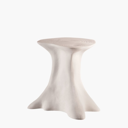 Arbo Tree Trunk Inspired Cast Stone Side Table