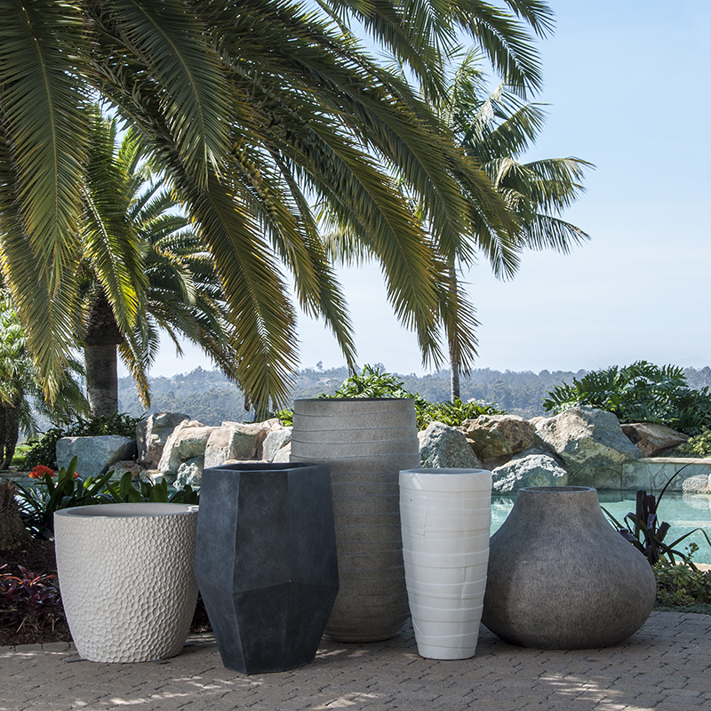 Fusso Artisan Tall Planters Outdoor Stone Yard Inc