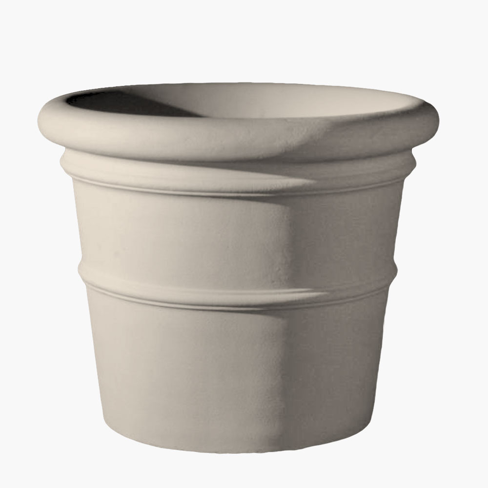 Durable outdoor planter pots made from stone