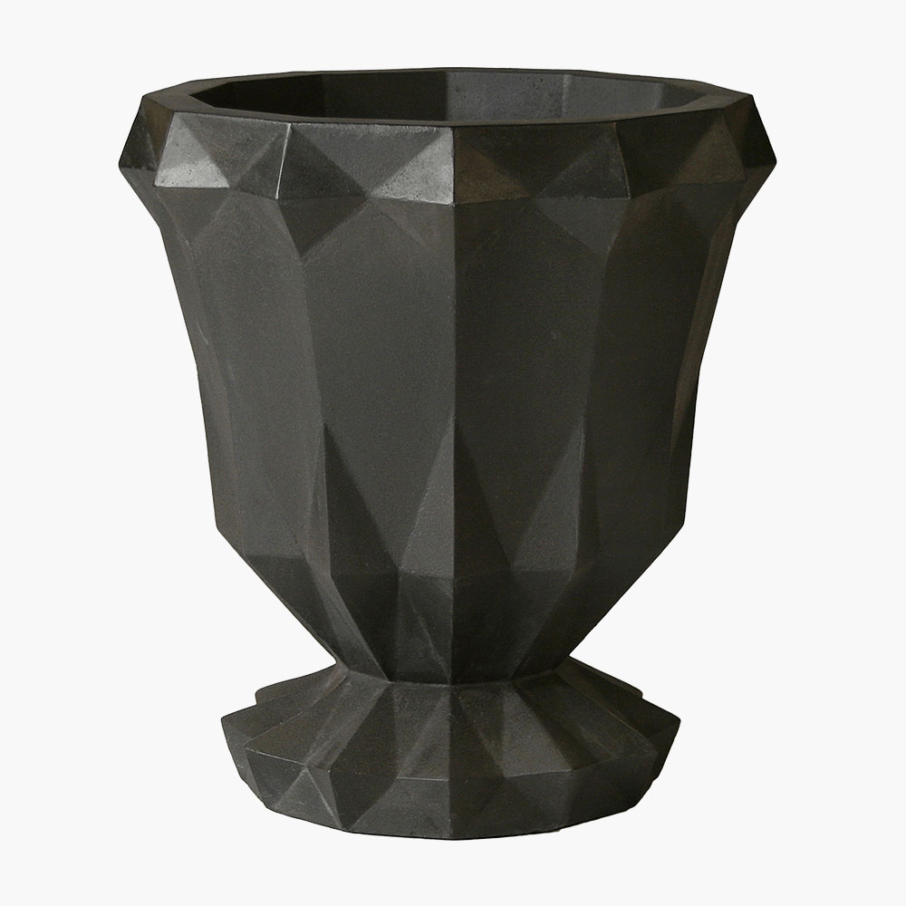 Modern Concrete Urn made from durable GFRC is strong and lightweight.