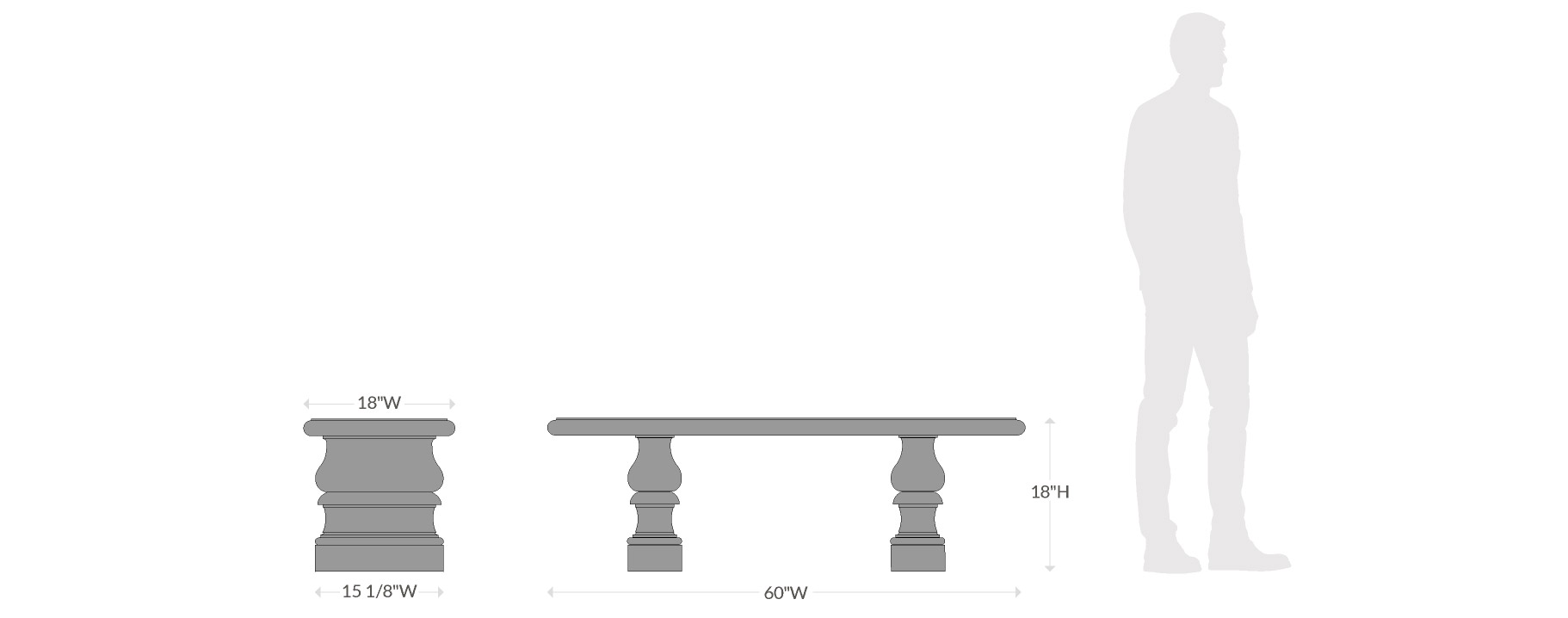 Balustrade Bench Scale Chart
