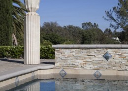 Concrete columns and modern urns