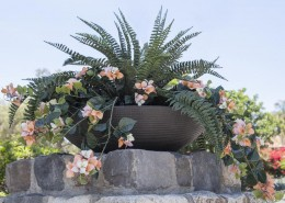 Low Bowl Cast Stone Planters