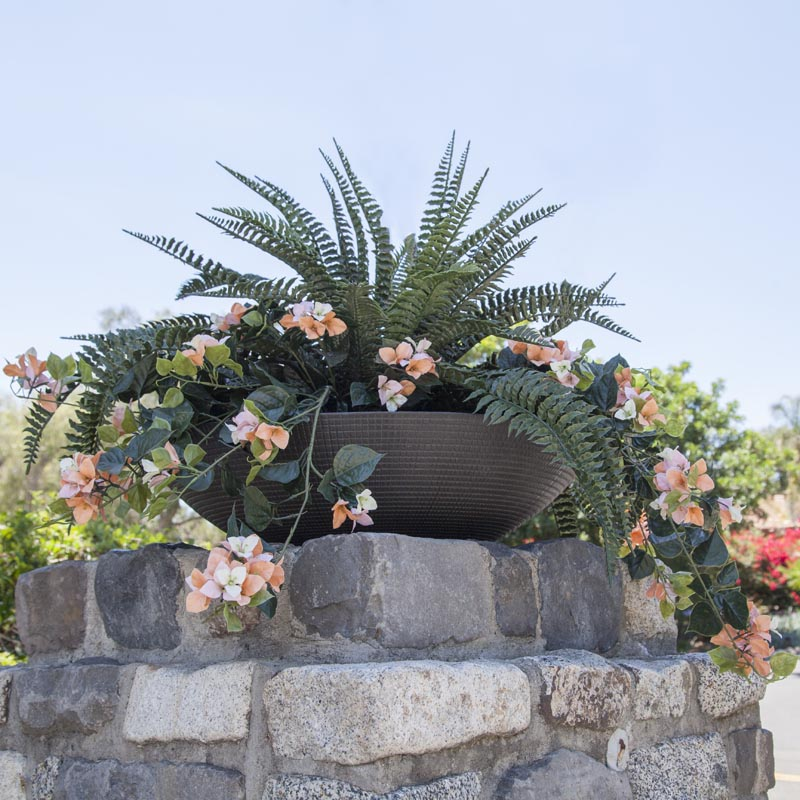 Unique Zamora Contemporary Low Bowl Planters | Stone Yard, Inc. JL41