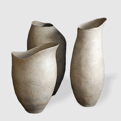 Lacchi Jars in durable Fiberstone