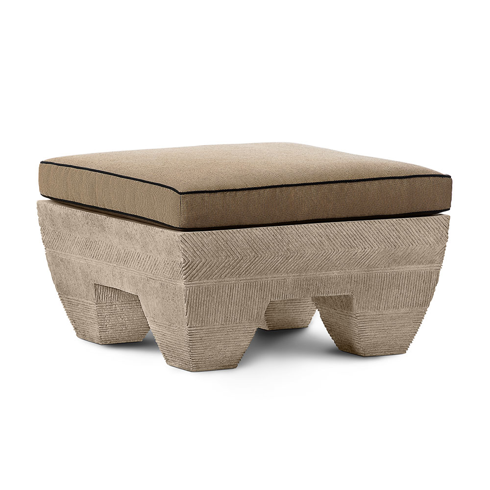 Zaragoza Ottoman with Cushion